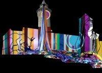 Die Blaue Nacht - Ausstellung zur Burgprojektion