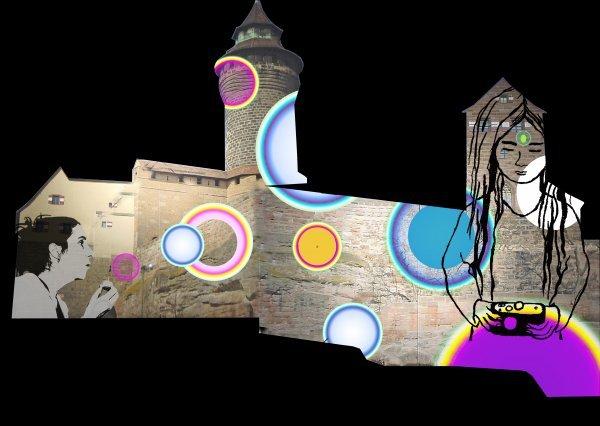 Die Blaue Nacht - Ausstellung zur Burgprojektion - © Barbara Engelhard