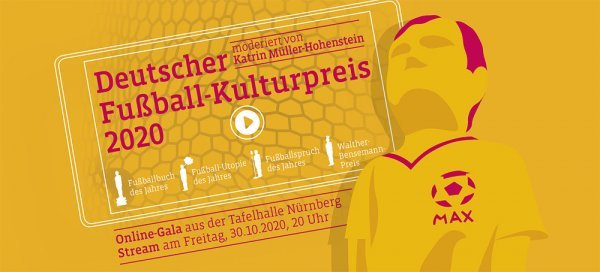 Deutscher Fußball-Kulturpreis 2018 - © Stadt Nürnberg / Deutsche Akademie für Fußball-Kultur, Foto: Jan Rygl